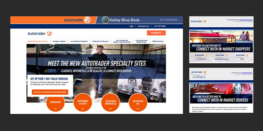 Autotrader: Specialities Landing Page redesign