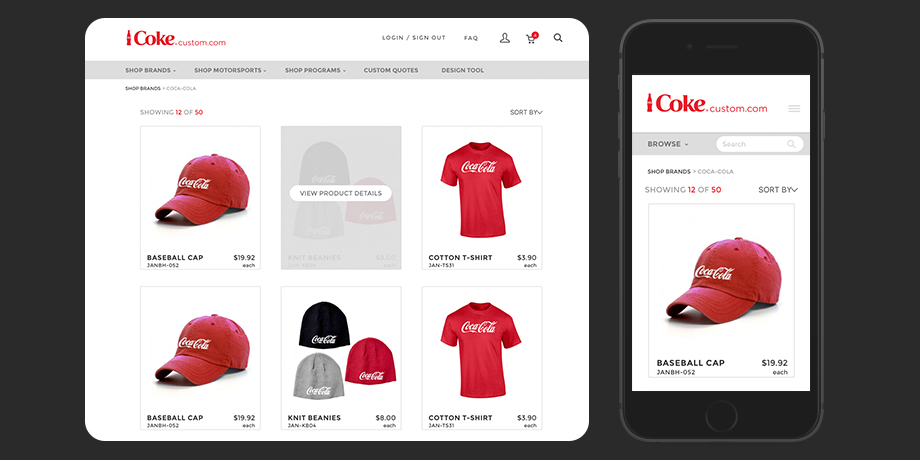 CokeCustom: E-commerce Website redesign