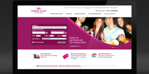 Web Design for Crowne Plaza that includes a landing page and other marketing assets
