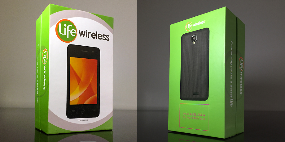 Life Wireless Smart Phone Package Design