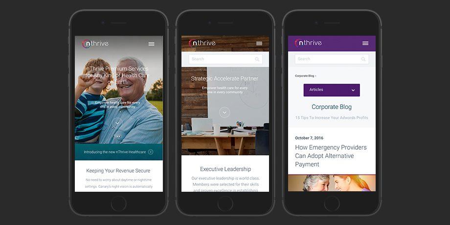 nThrive: UI Mobile design