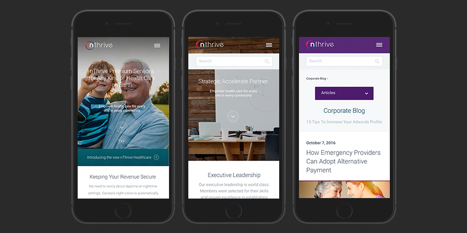 nThrive: UI Mobile design