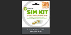 Life Wireless: SIM kit packaging