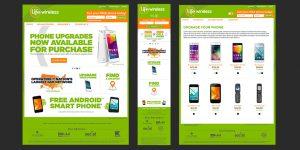 Life Wireless website redesign (desktop + mobile)