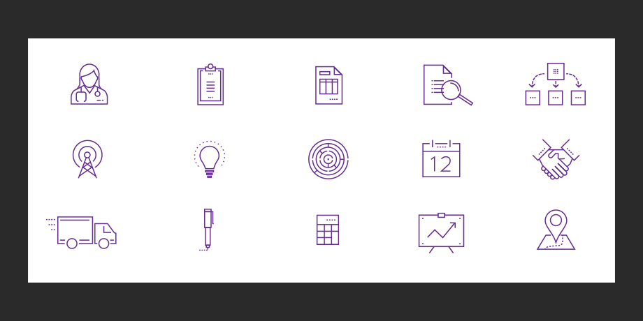 nThrive: icon development for website